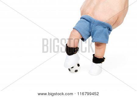 Soccer Player Feet Stepping Onto Soccer Ball
