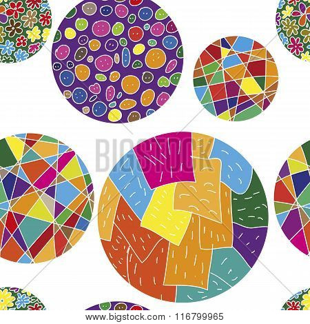 Seamless vector pattern with colorful balls