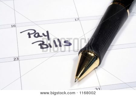 Calendar With Bill Pay Reminder