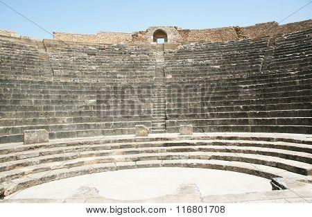 Roman Amphitheater At Dougga - The Former Capital Of Numidia