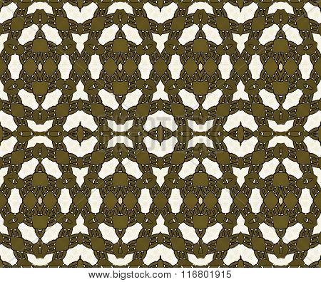 Seamless diamond pattern golden brown white