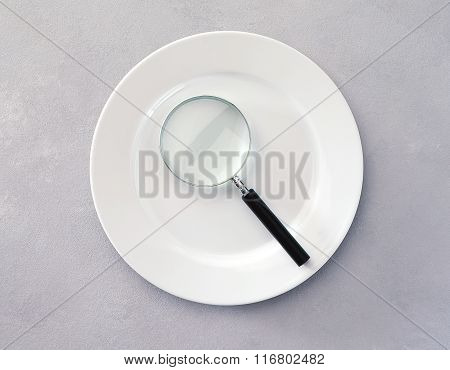 Plate With Magnifying Glass