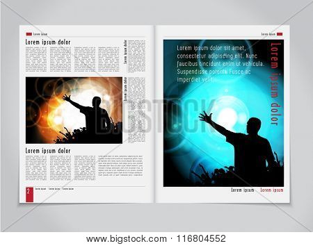 Newspaper template, vector