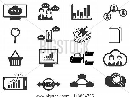 Data analytic and social network icons