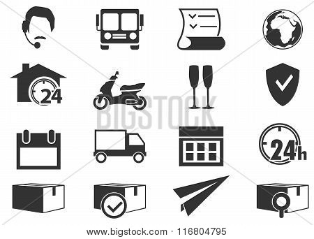Shipping and delivery icons