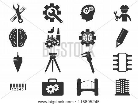 Engineering icons set