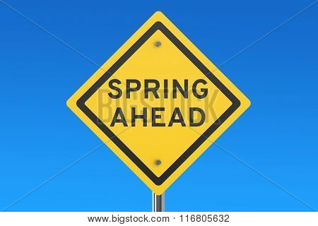 Spring Ahead Road Sign