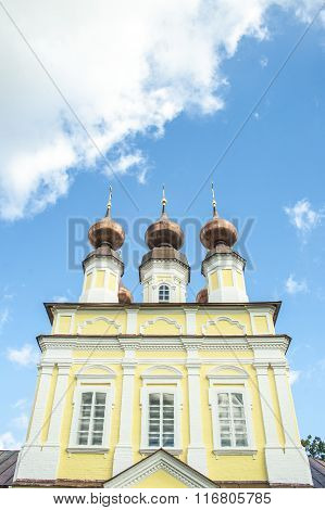 View on Russian church cupolas