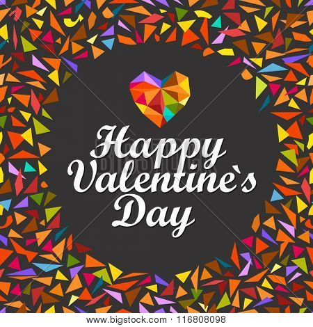 Happy Valentines Day. Vector greeting card