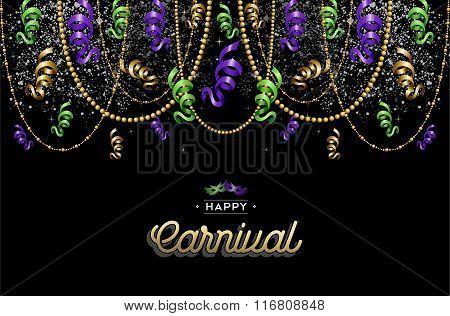 Happy Carnival Design Background Decoration