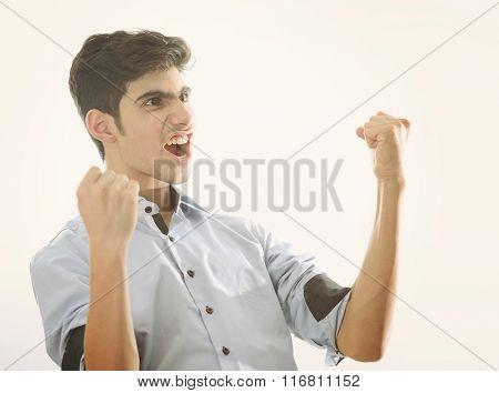 Arabian teenager celebrating victory