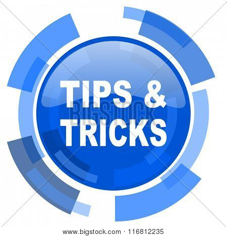 tips tricks blue glossy circle modern web icon