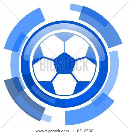 soccer blue glossy circle modern web icon
