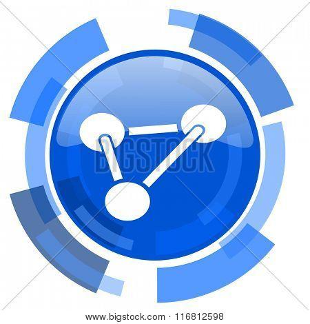 chemistry blue glossy circle modern web icon