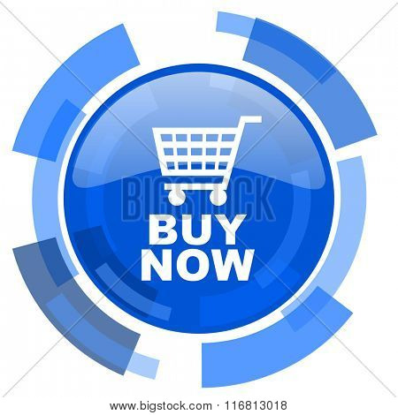 buy now blue glossy circle modern web icon