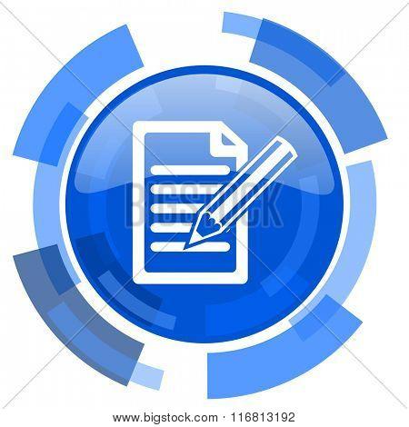 subscribe blue glossy circle modern web icon
