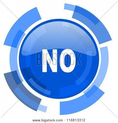 no blue glossy circle modern web icon