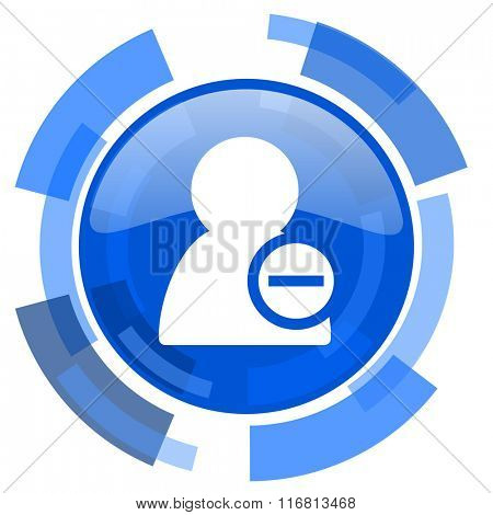 remove contact blue glossy circle modern web icon