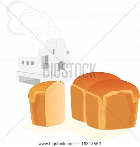 Bread and Russian stove