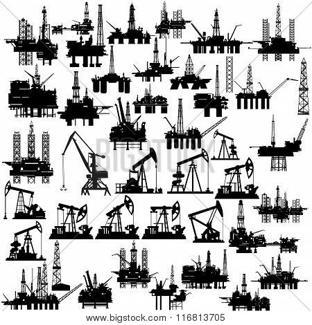Oil platforms and oil pumps