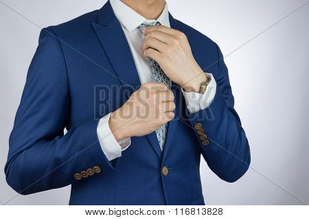 Businessman Dressing Blue Suit
