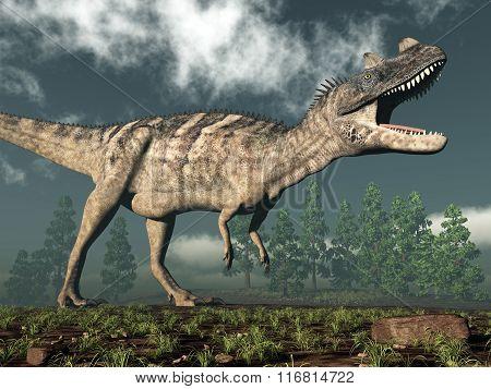 Ceratosaurus dinosaur - 3D render