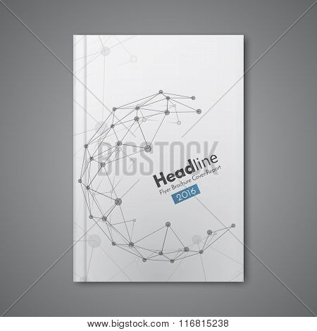 Science Design Vector Template. Cover Annual Report In A4 Size.