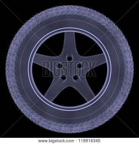Car wheel xray