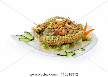 Chicken In Bird Nest