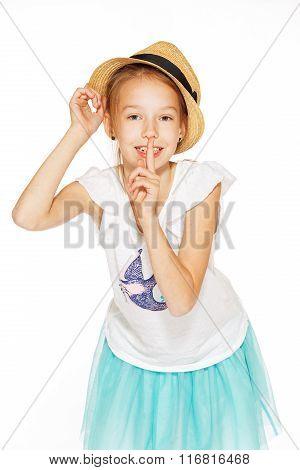 Cute girl posing for the camera