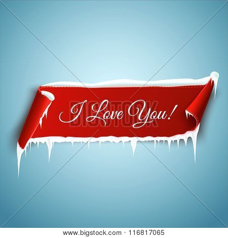 Happy Valentines Day, Greeting Card Template. Vector Illustration