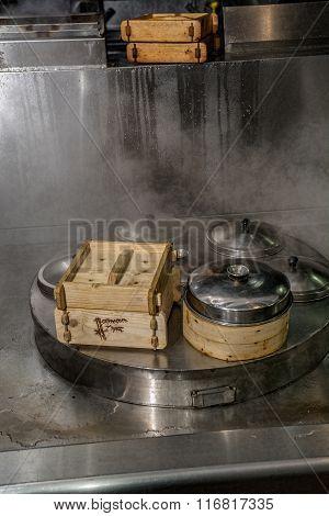 Dim Sum Cooking On Steam