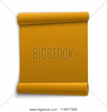Clean Paper Banner. Vector Illustration