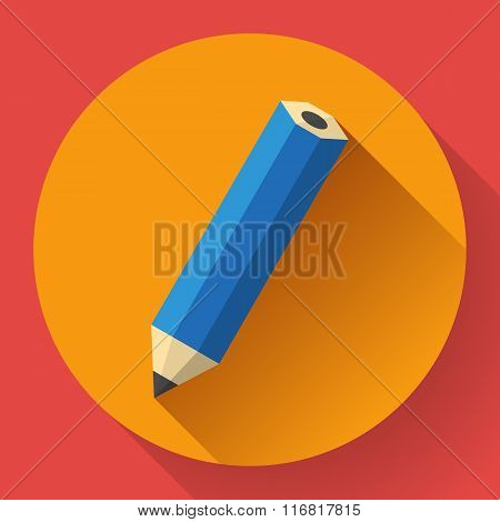 office pencil icon. Business Flat design style