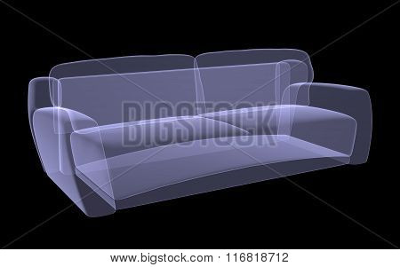 Sofa xray on black