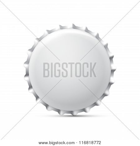 White Bottle Cap. Vector