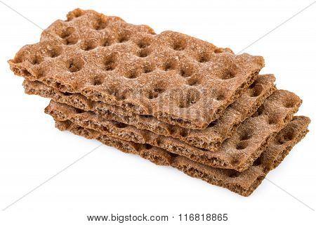 Crispbread Stack Isolated