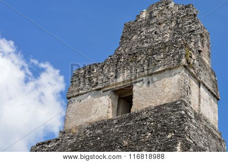 The Top Of The Temple I Of The Maya Archaeological Site Of Tikal In Guatemala