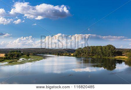 Blue landscape in summer