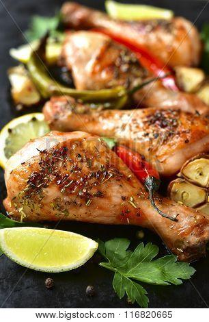 Grilled Chicken Legs.