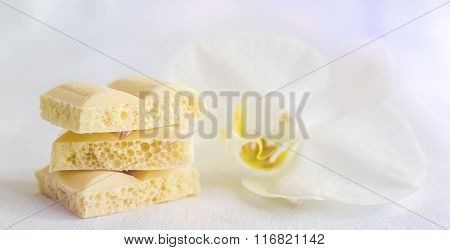 Tasty White Porous Chocolate
