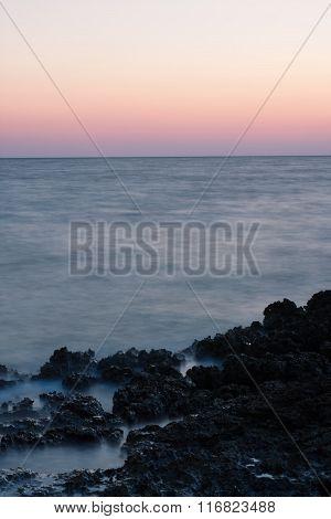 Evening Sky Over Sea After Sunset In Croatia