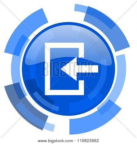enter blue glossy circle modern web icon