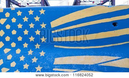 Jersey Barrier Flag