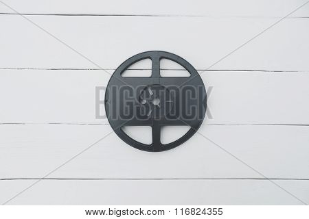 Black Steel Coil On A White Background