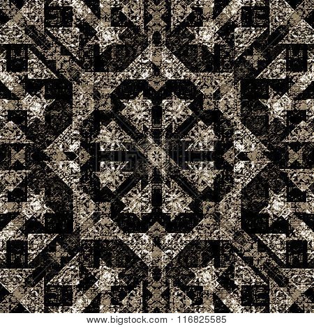Ornate Check Seamless Pattern