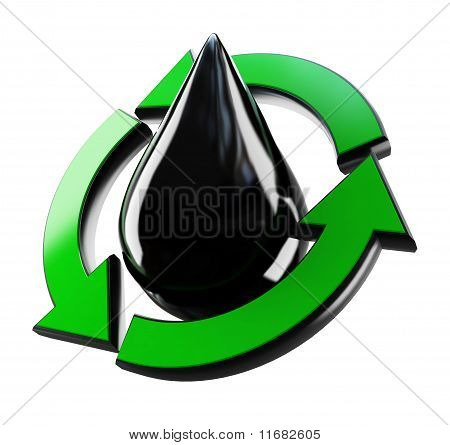 Recycling Drop Of Oil