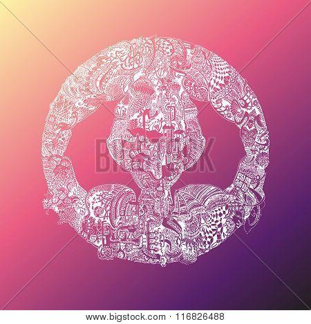 Abstract Vector Tribal Ethnic Mandala
