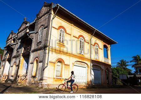 Old Building And Tourist