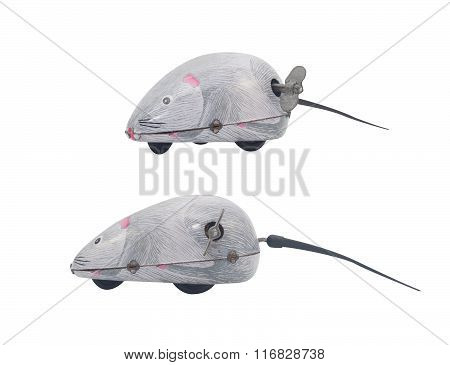 Isolated wind-up mouse toy